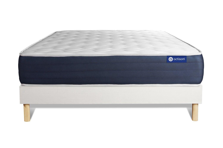 Actisom Ensemble ACTIMEMO SLEEP 160x200cm sommier kit blanc