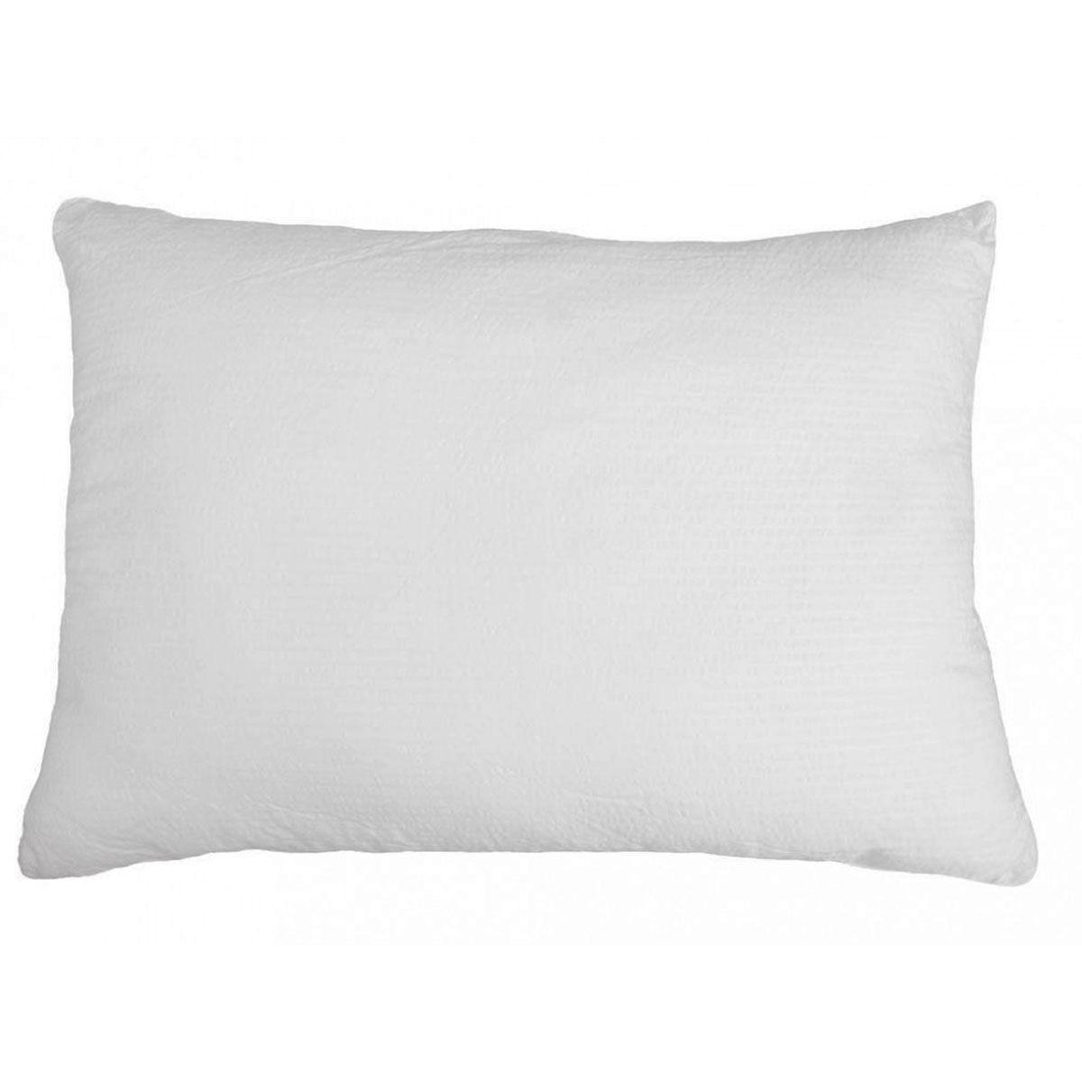 Toison d'Or Oreiller rectangle aspect gaufré polyester blanc 70x50