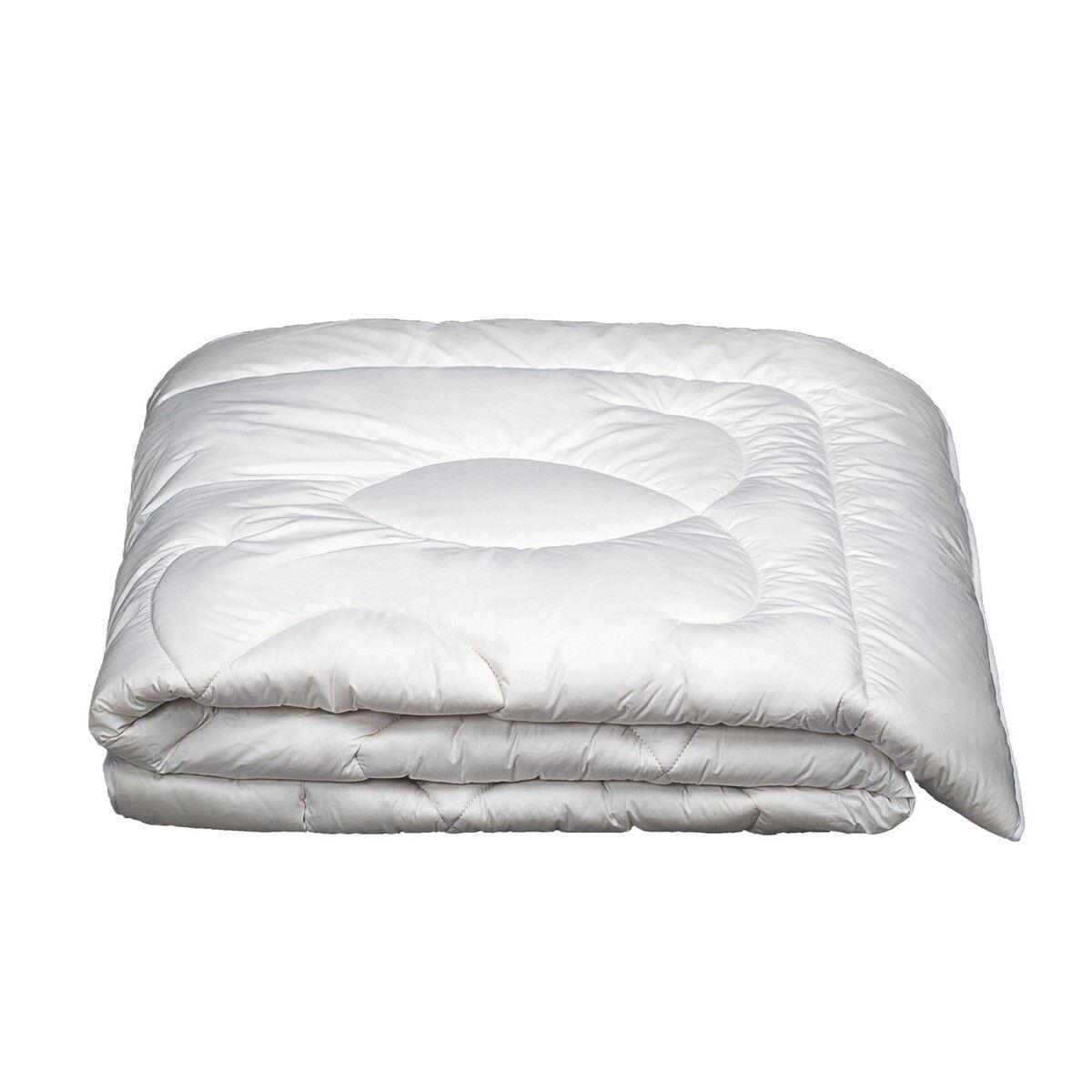 Brun de Vian-Tiran Couette Chaude Naturel en Laine Trs chaud Blanc 240x260 cm