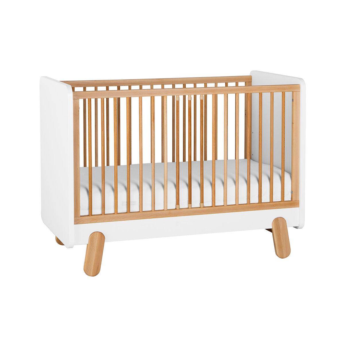 Pinio Lit bébé 60x120 blanc bois