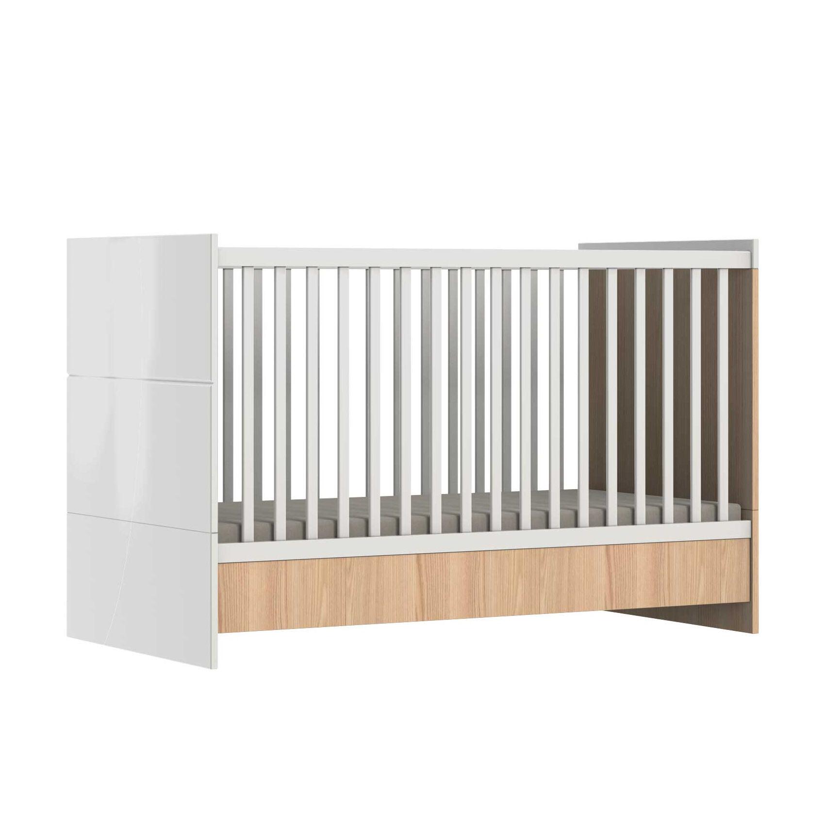 Home Maison Lit évolutif bébé Java en bois Blanc 144x76x93