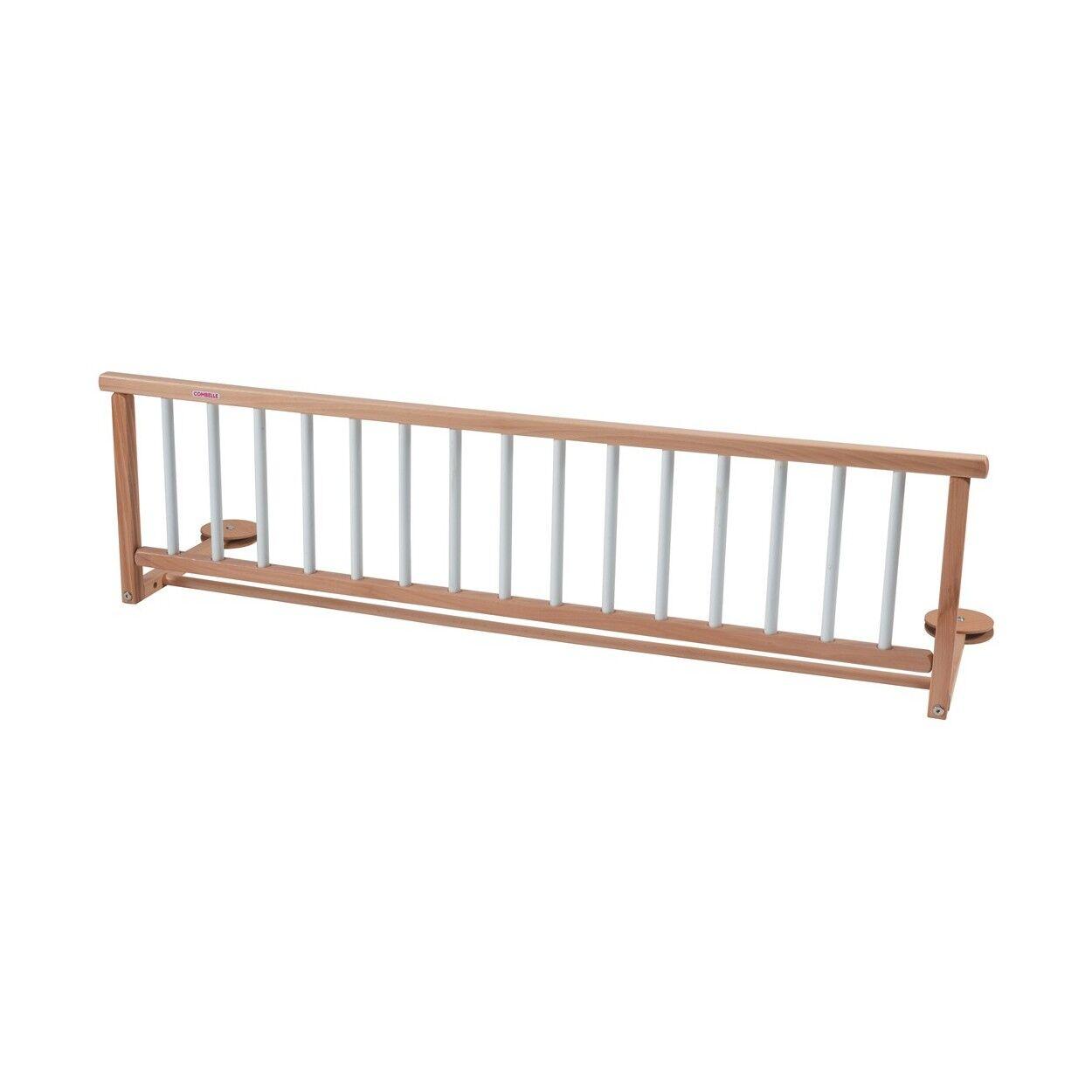 Combelle Barrière de lit en bois bicolore blanc - 127x35 cm