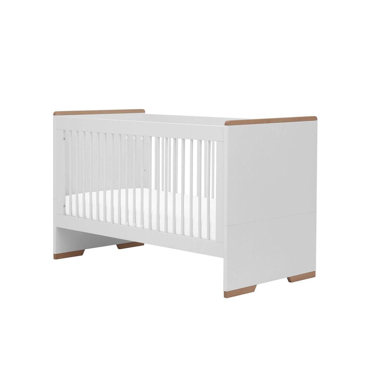 Pinio Lit évolutif 70x140 blanc bois
