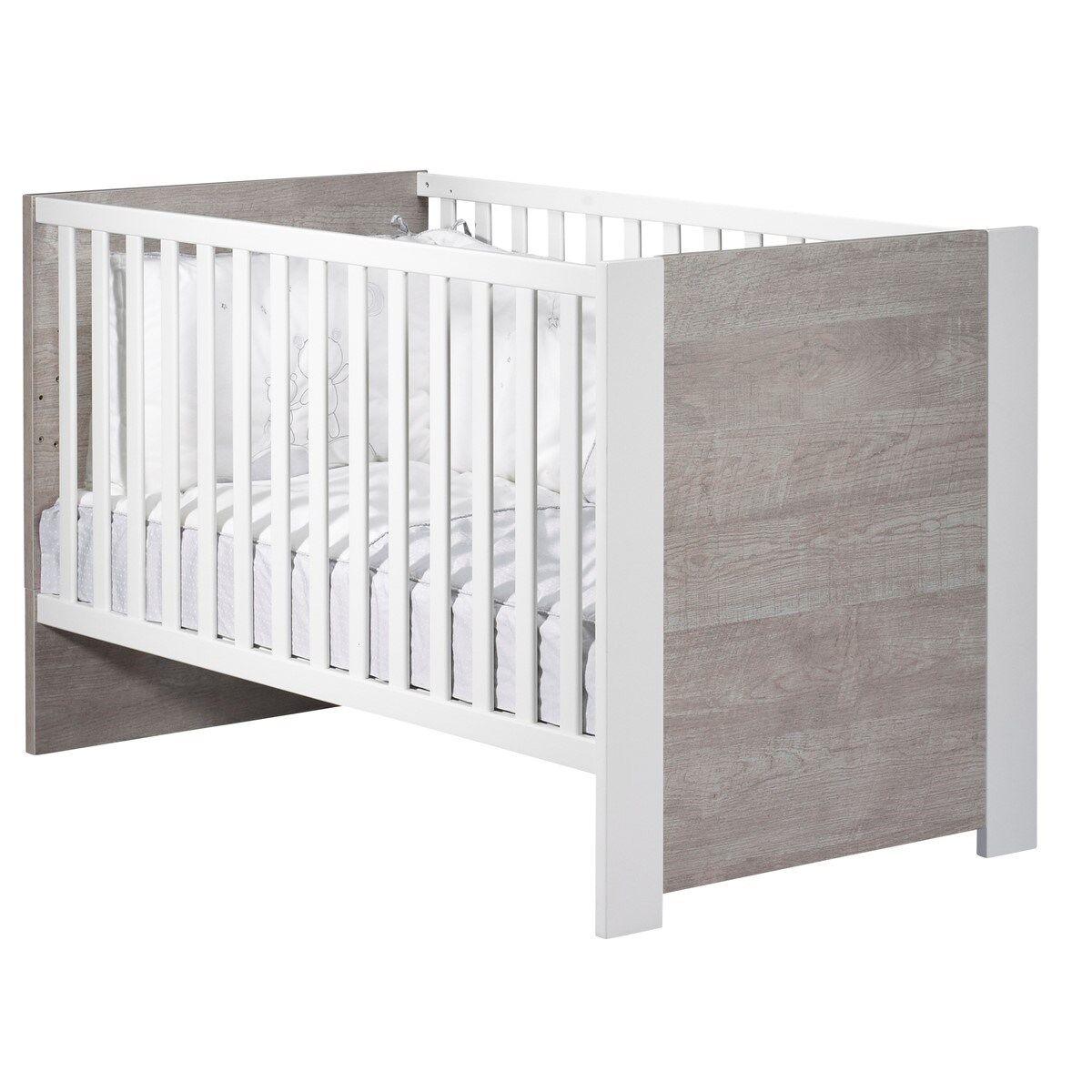 Sauthon Lit 140x70 en bois blanc