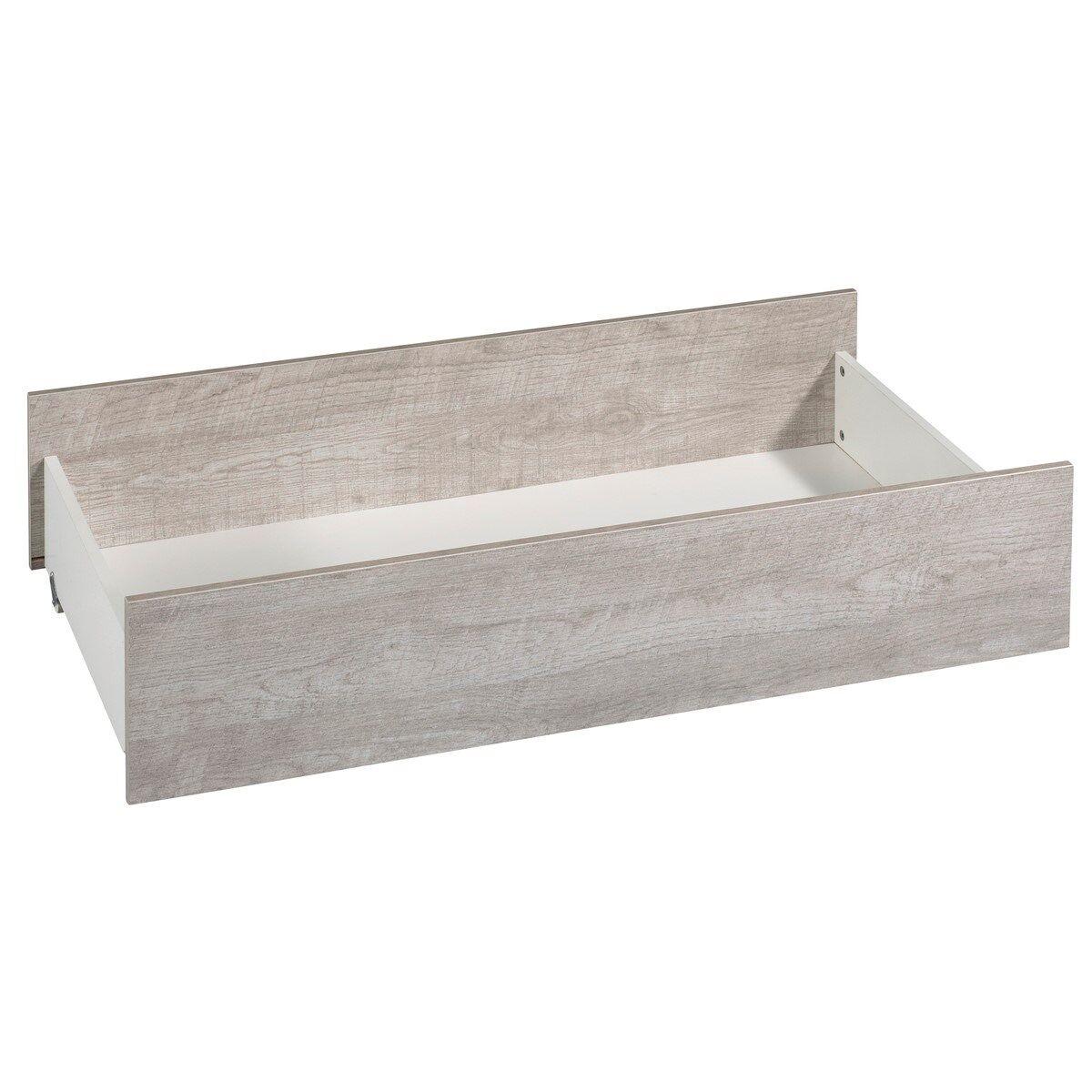 Sauthon Tiroir de lit combiné évolutif en bois blanc