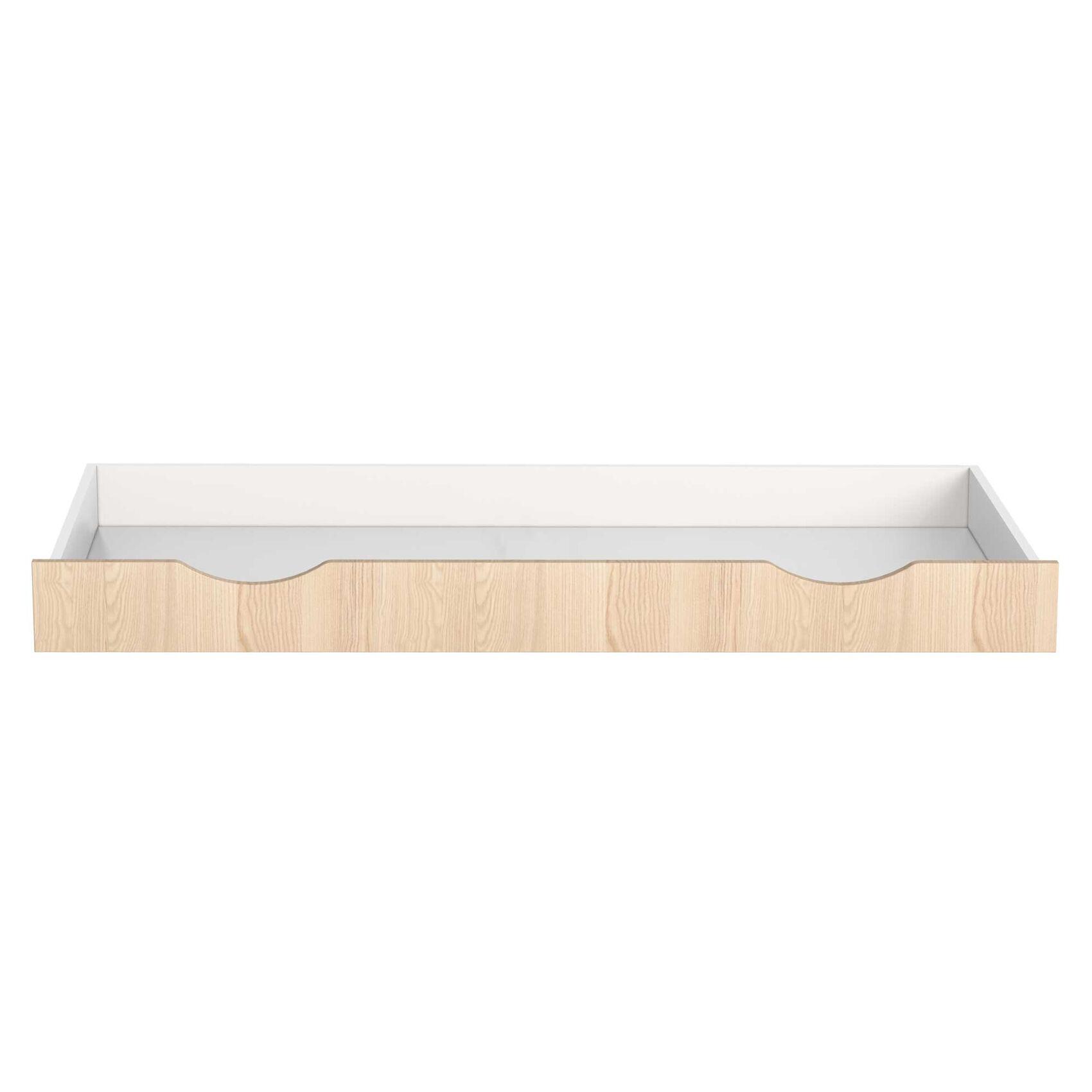 Home Maison Tiroir pour lit enfant Java en bois Blanc 140x62x14