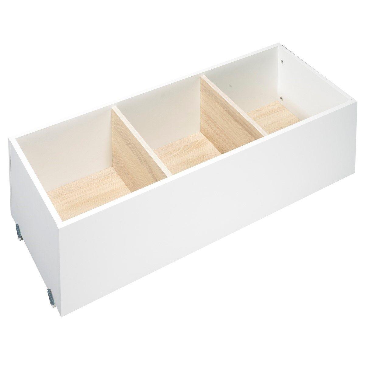Sauthon Tiroir pour lit combiné évolutif en bois blanc