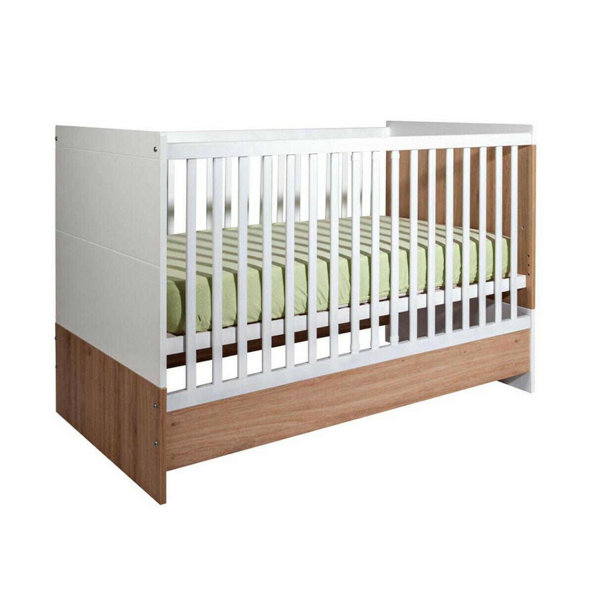 ID Kids Lit bébé évolutif Panneaux de bois 70x140 Blanc, bois