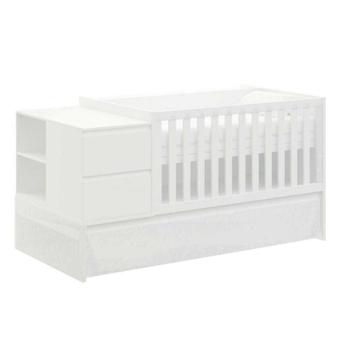 ID Kids Lit bébé combiné, évolutif Bois massif, MDF 70x140 Blanc
