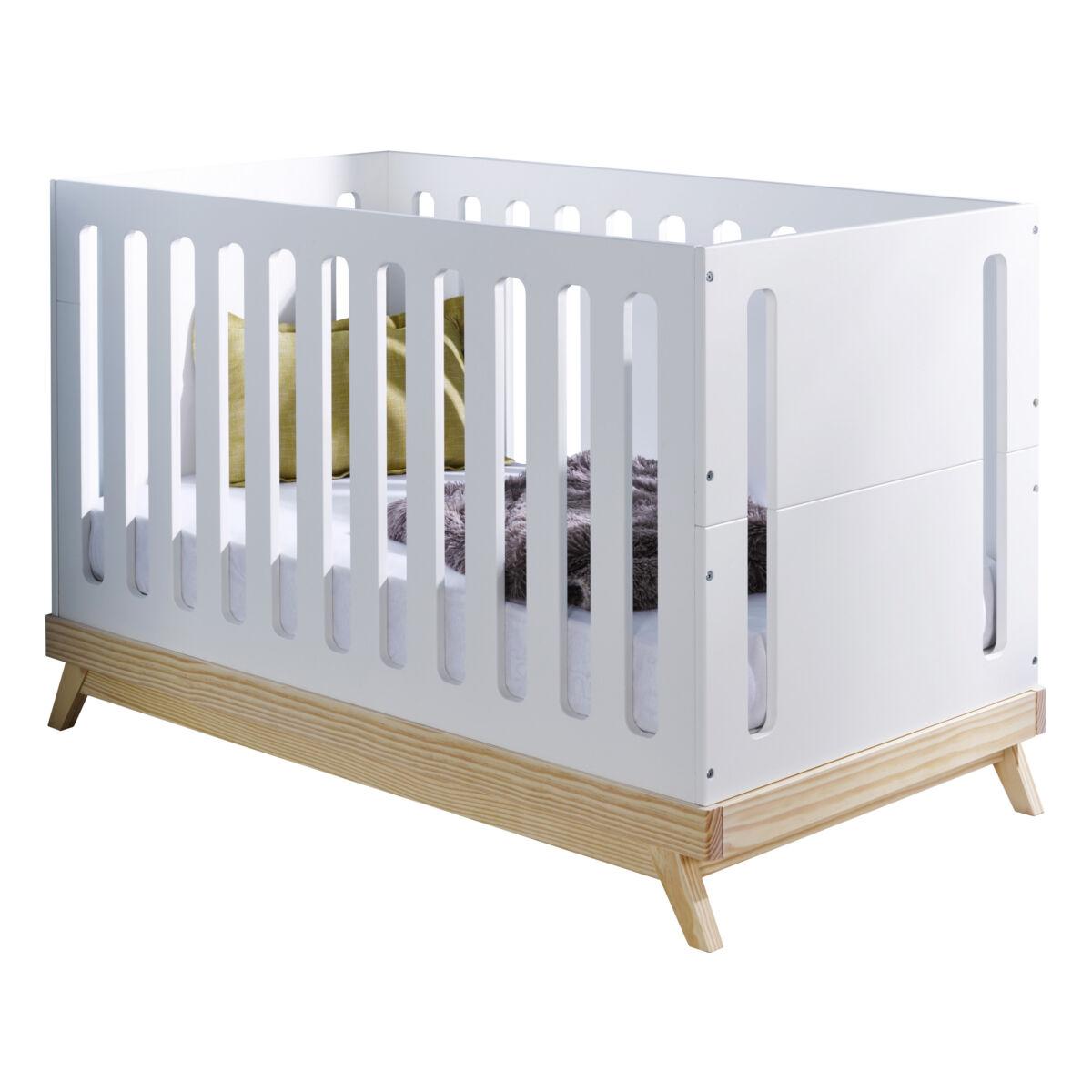 ID Kids Lit bébé évolutif Bois massif, MDF 70x140 Blanc
