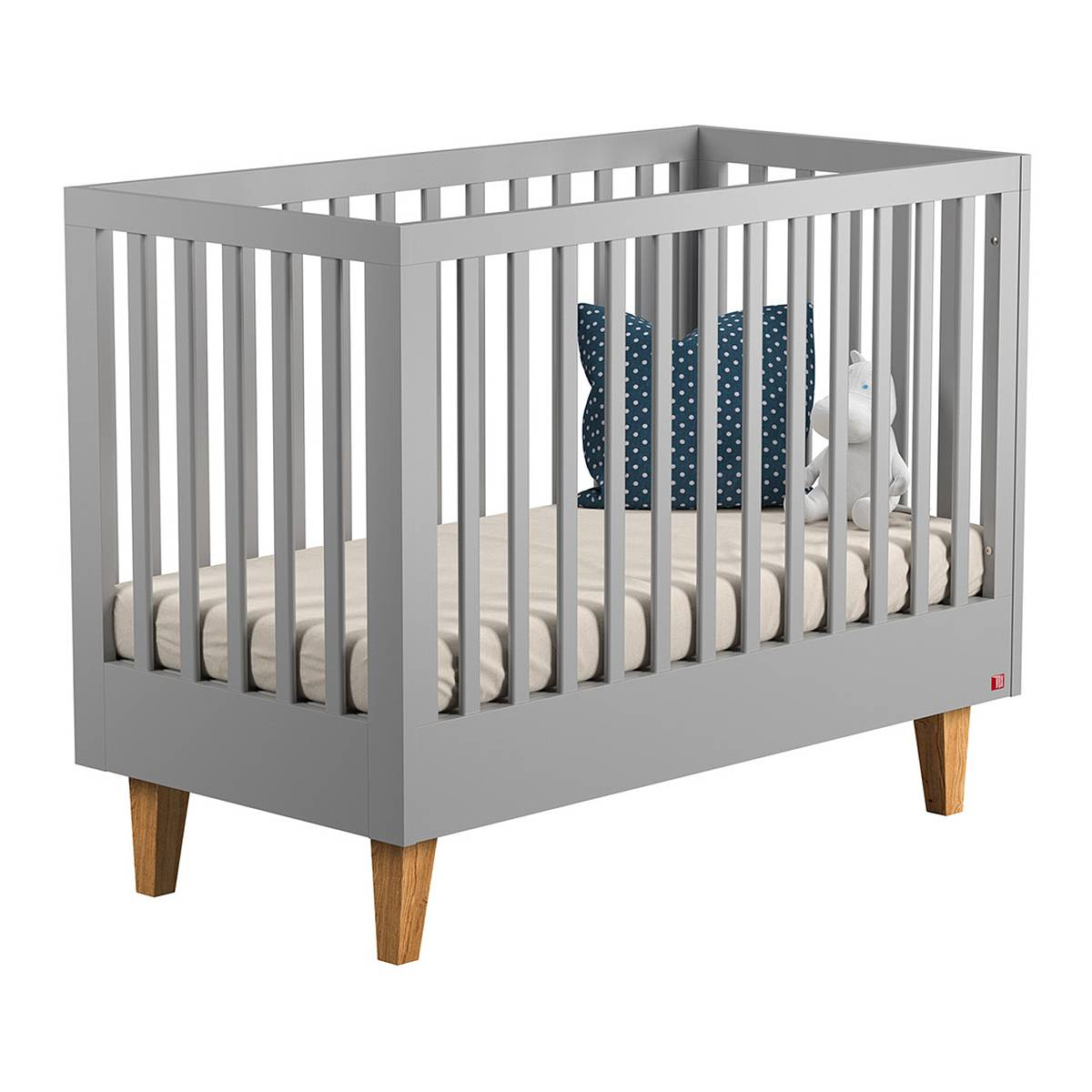 Vox Lit bébé 60x120 gris