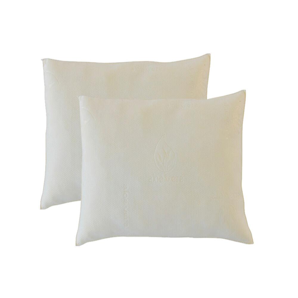Bellecour Lot de 2 oreillers Aloe Vera 60x60 cm  Mémoire de forme