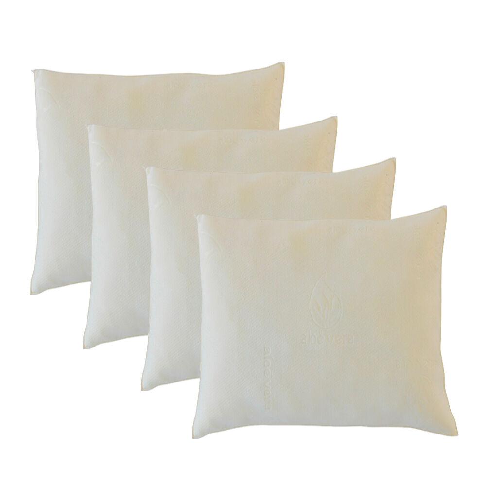 Bellecour Lot de 4 oreillers Aloe Vera 60x60 cm  Mémoire de forme