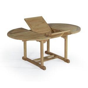TECKAttitude Table de jardin extensible en teck massif L120/170 - Publicité