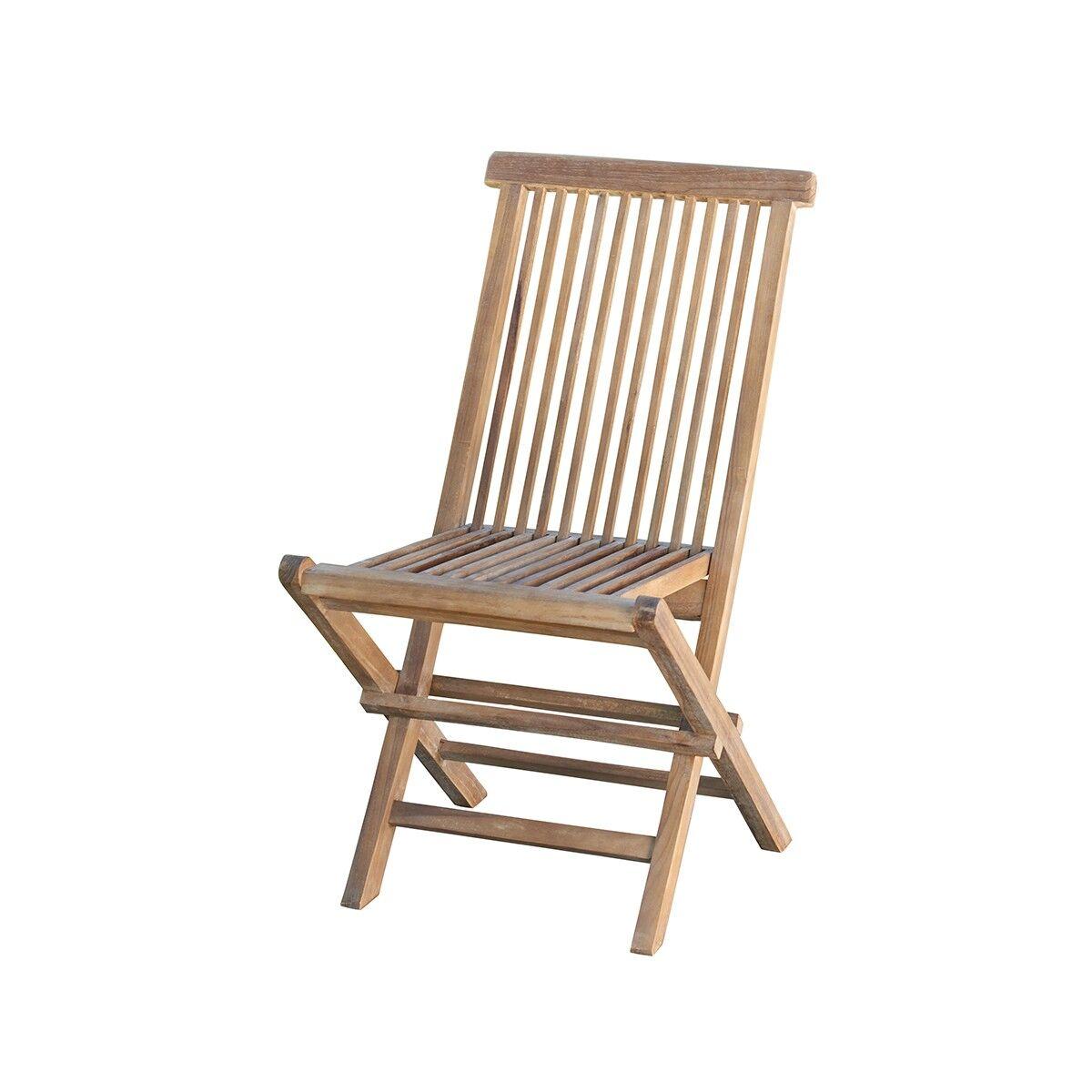 Bois Dessus Bois Dessous Chaise de jardin en teck huilé pliante