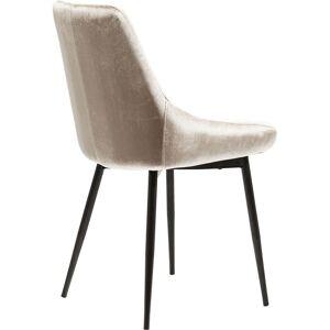 Kare Design Chaise en velours beige et acier - Publicité