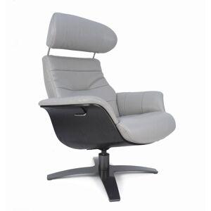My New Design Fauteuil relax cuir gris et chêne noir - Publicité