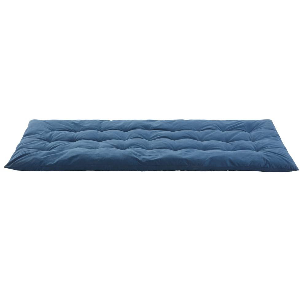 Maisons du Monde Matelas gaddiposh en coton bleu 90x190