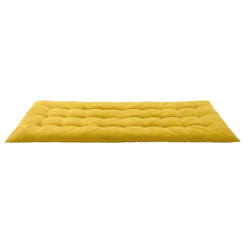 Maisons du Monde Matelas gaddiposh en coton jaune 90x190