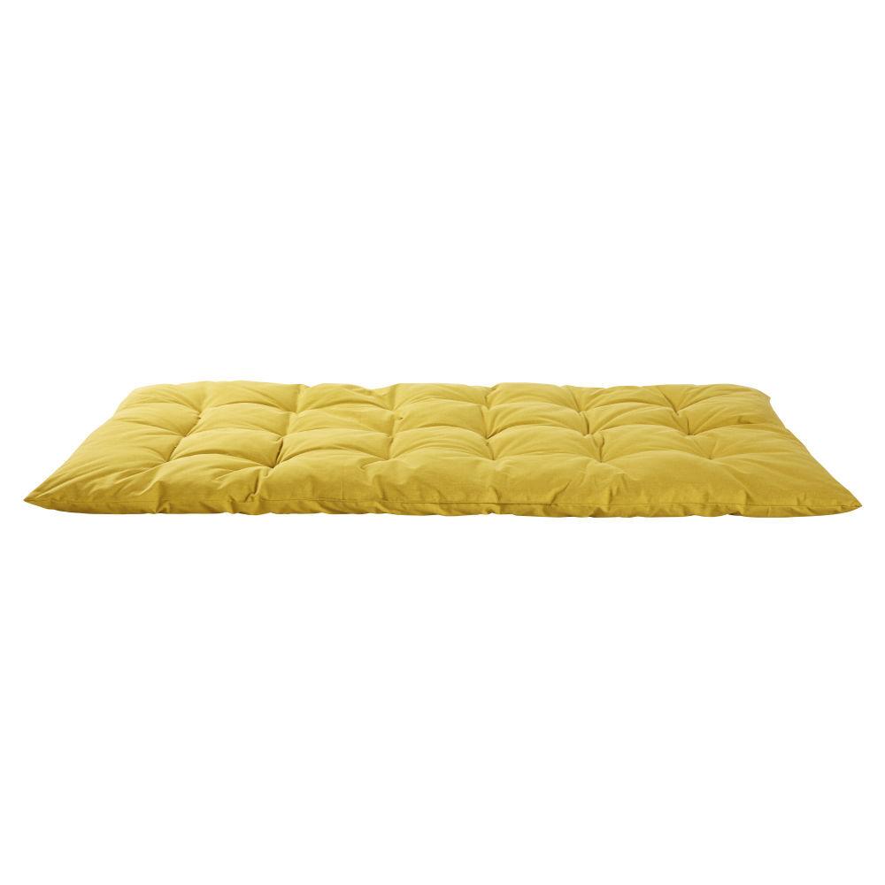 Maisons du Monde Matelas gaddiposh en coton jaune moutarde 60x120