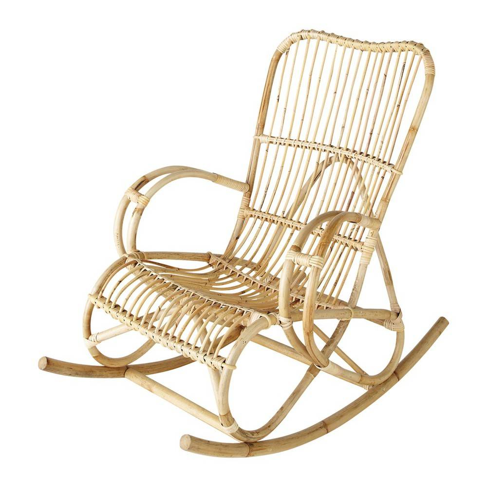 Maisons du Monde Rocking chair en rotin Louisiane