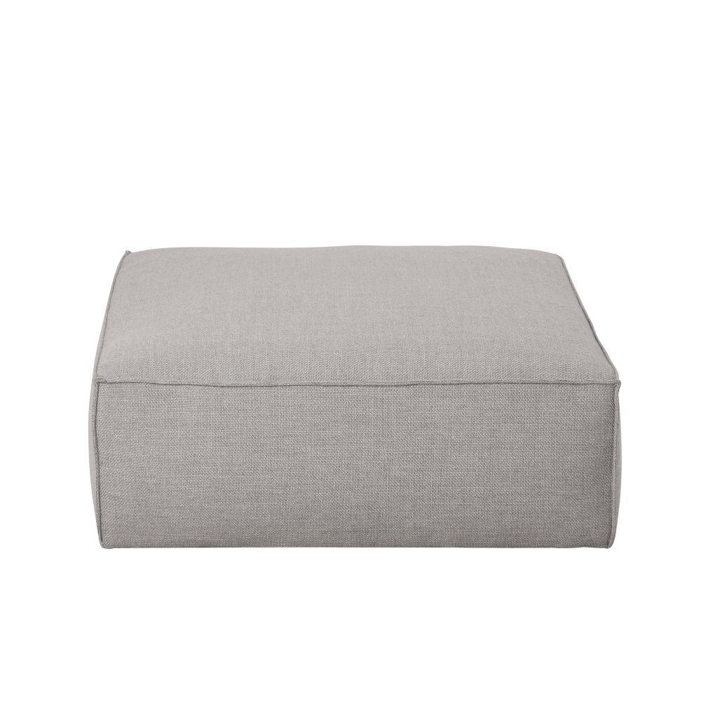 Maisons du Monde Pouf pour canapé modulable gris