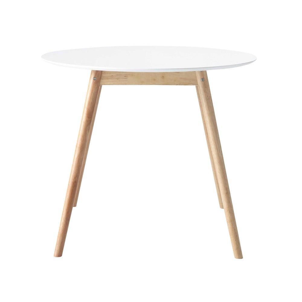 Maisons du Monde Table à manger ronde blanche 4 personnes D90