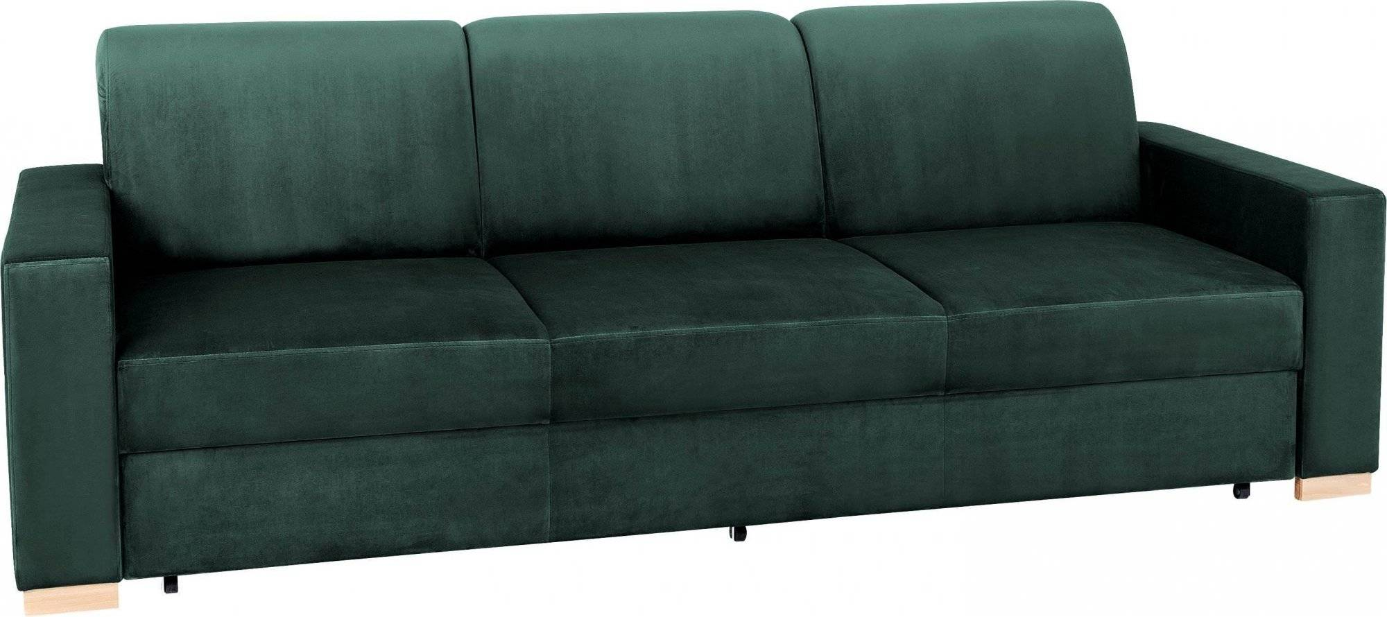 Custom Form Canapé convertible 3 places tissu vert avocat h40cm