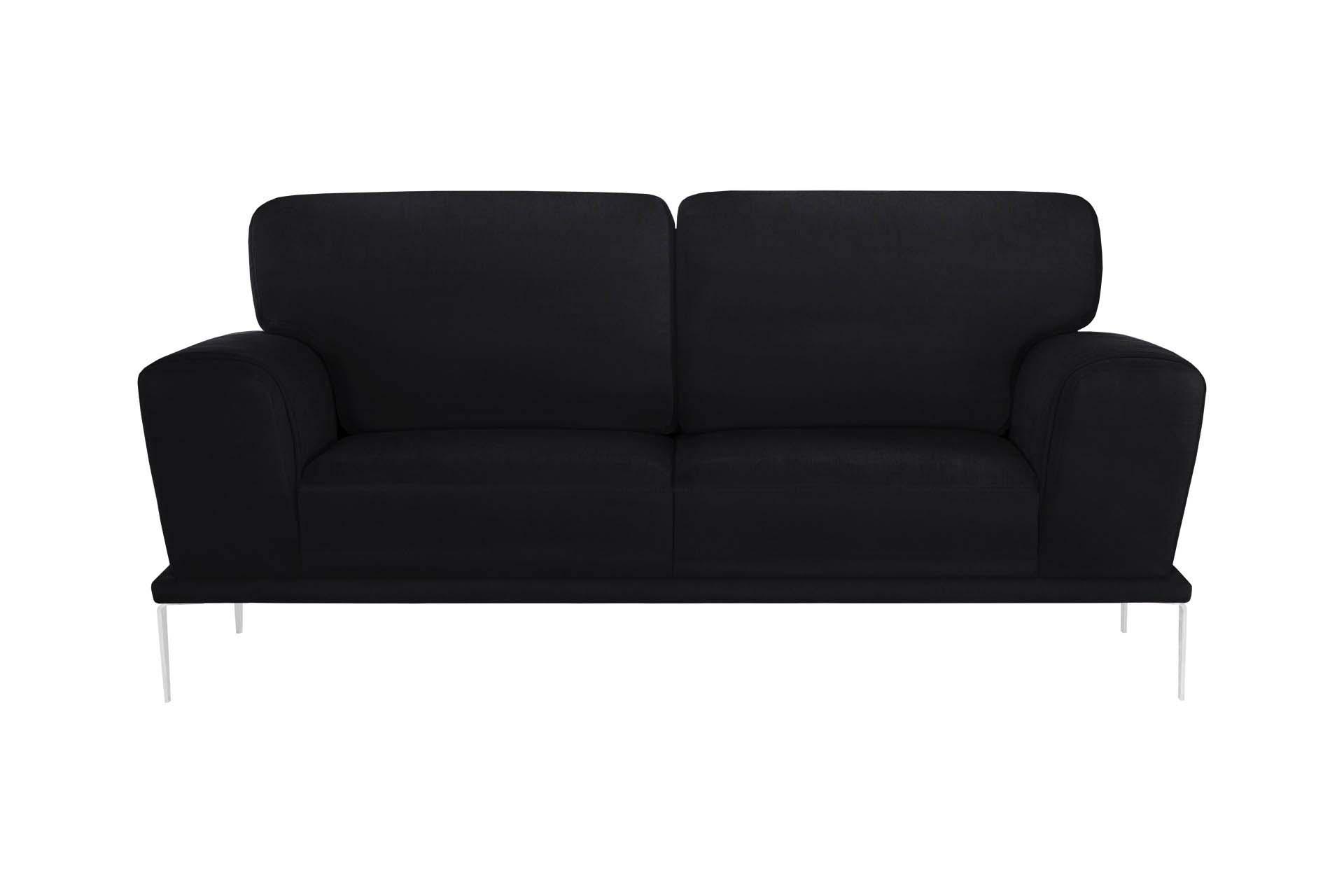L'Officiel Interiors Canapé 2 places toucher coton noir