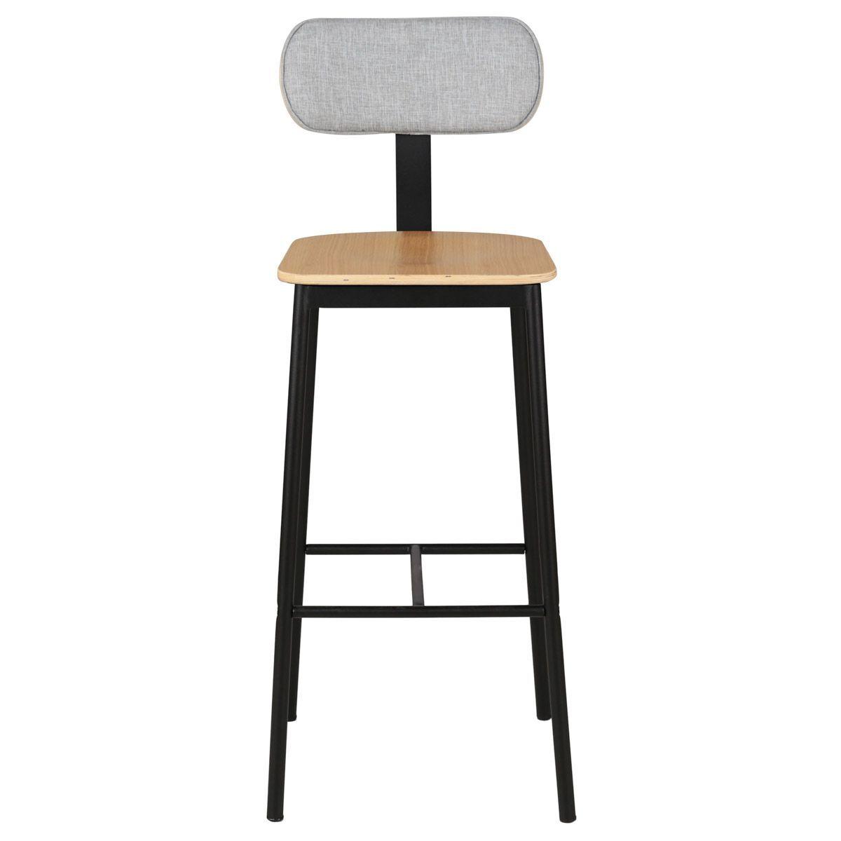Zago Chaise de bar bois en chne plaqué et tissu  structure métal  aucune,