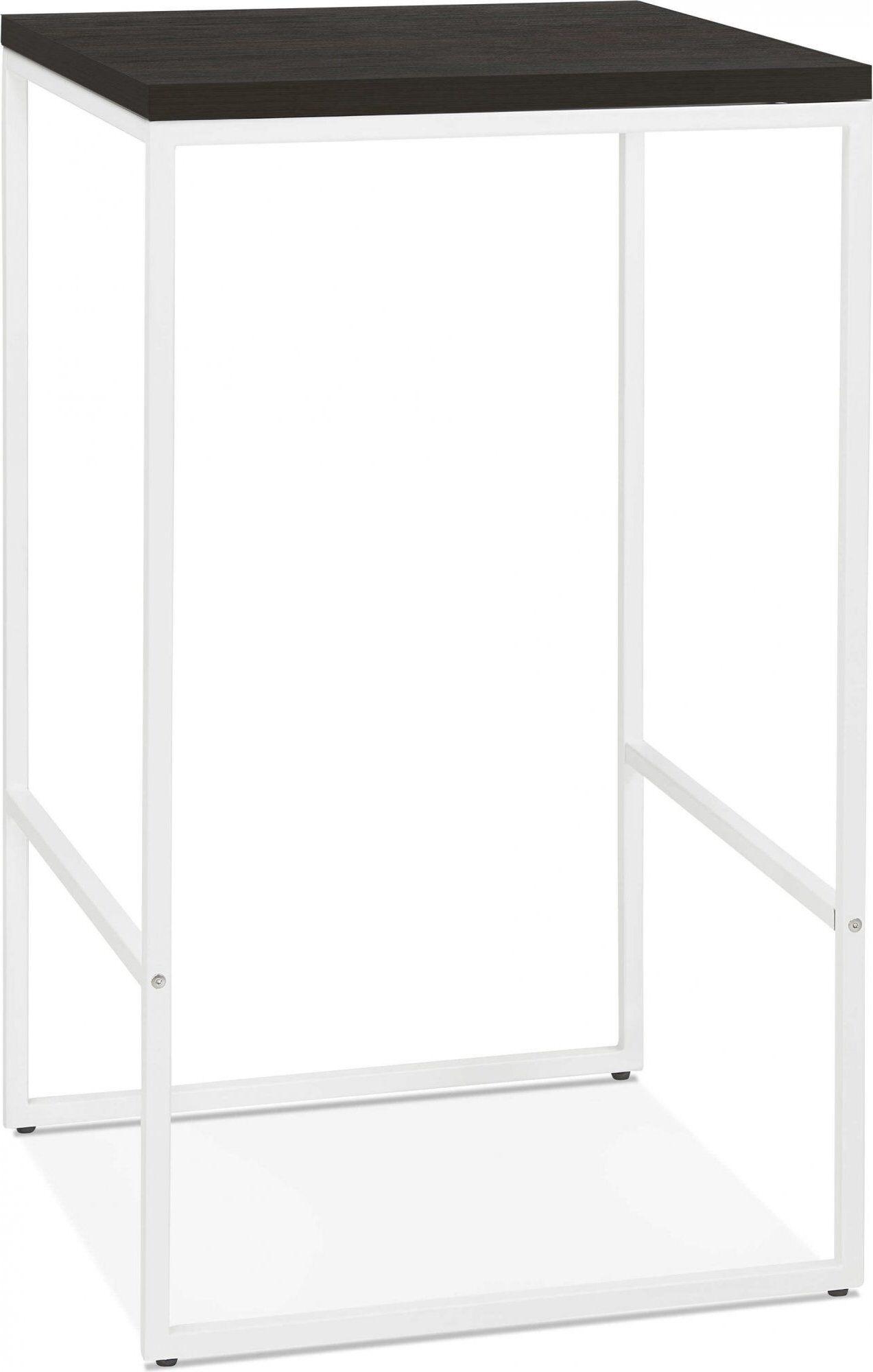 Kokoon Design Mange debout table haute noir et blanc 2 places l60cm