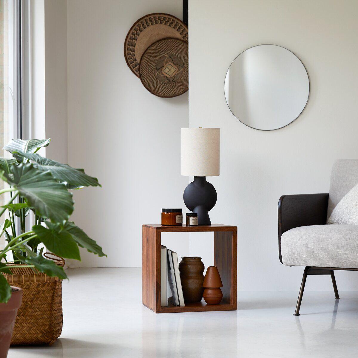 Tikamoon Module Cube 3 tiroirs en bois de Palissandre massif 40