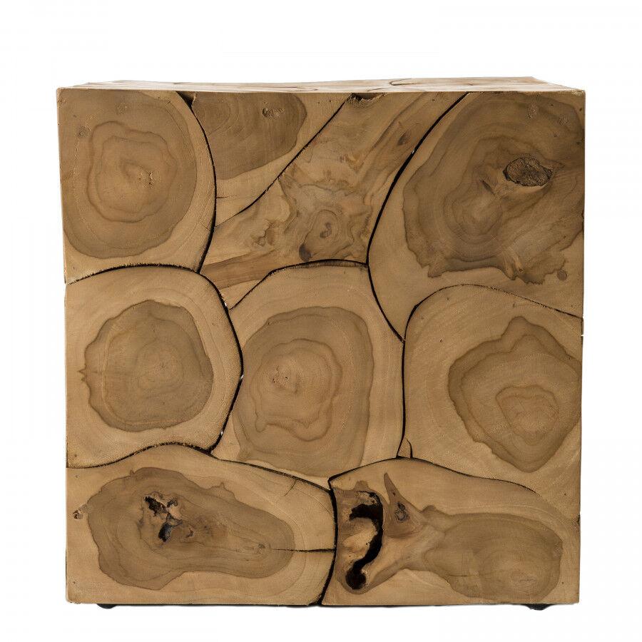 MACABANE Cube nature bois teck