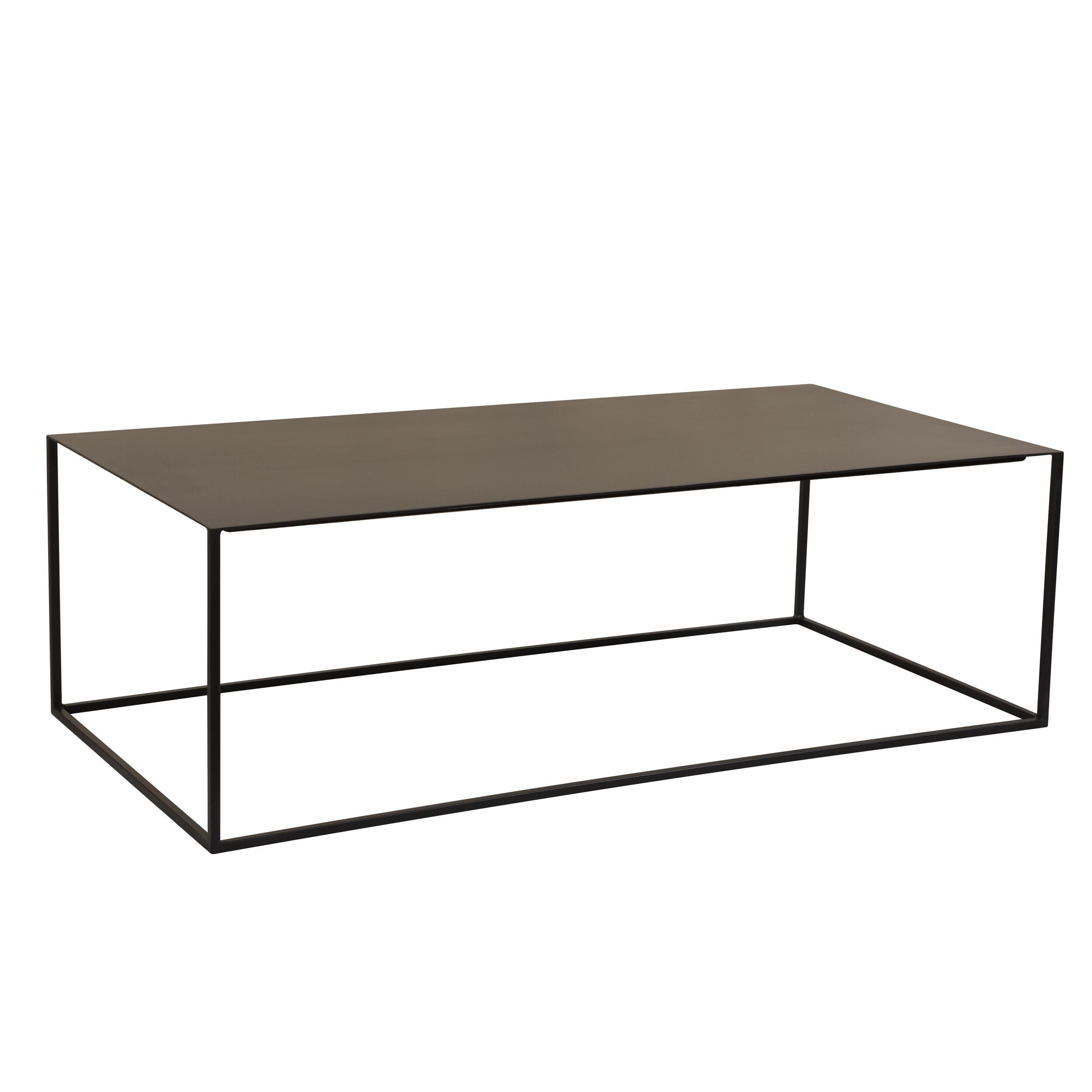 Rendez vous déco Table basse rectangulaire en métal noir