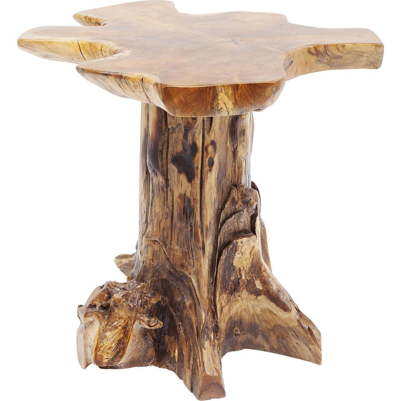 Kare Design Table d'appoint souche d'arbre en teck massif