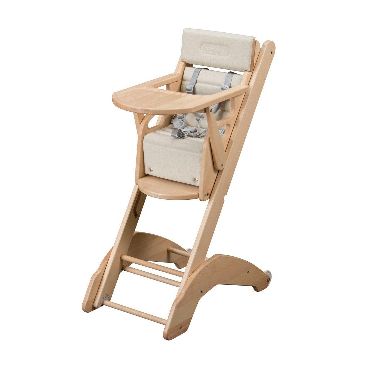 Combelle Chaise haute bébé évolutive  vernis naturel - 41x97 cm