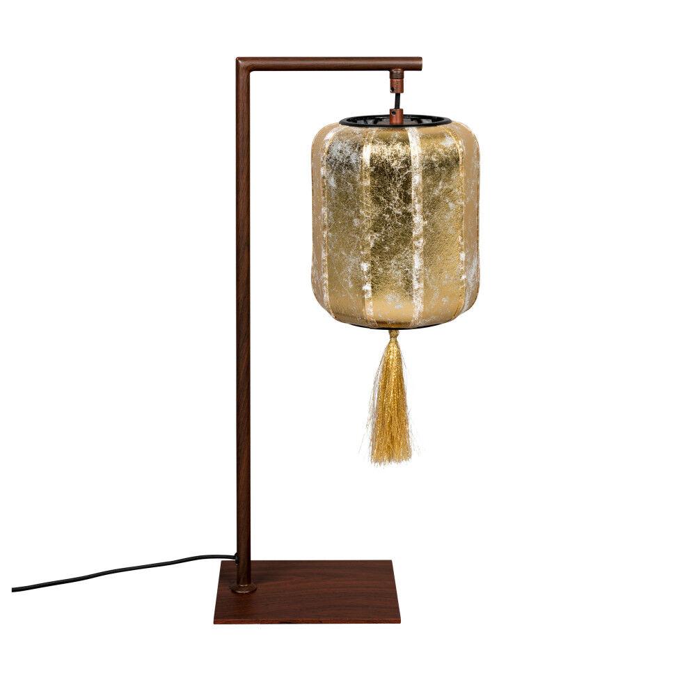 Dutchbone Lampe à poser style lanterne japonaise or