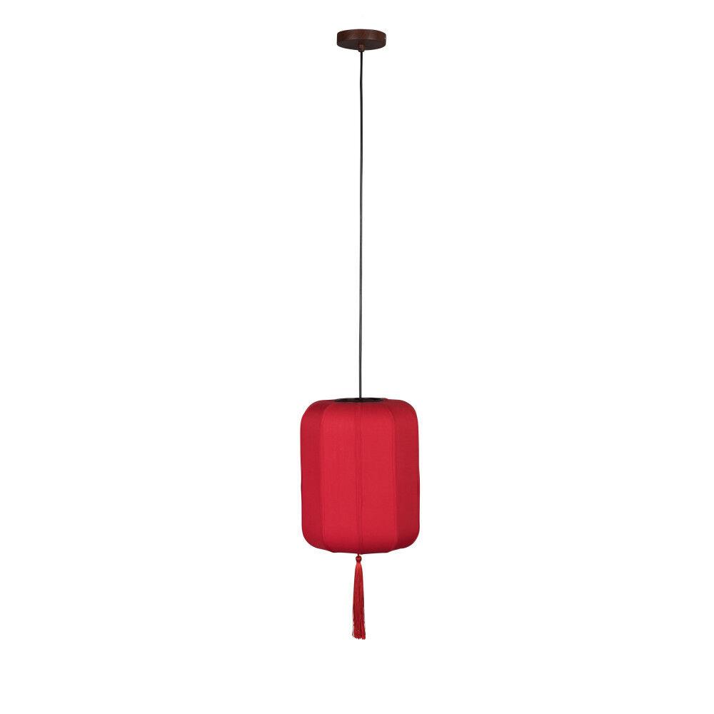 Dutchbone Suspension style lanterne japonaise D30cm rouge