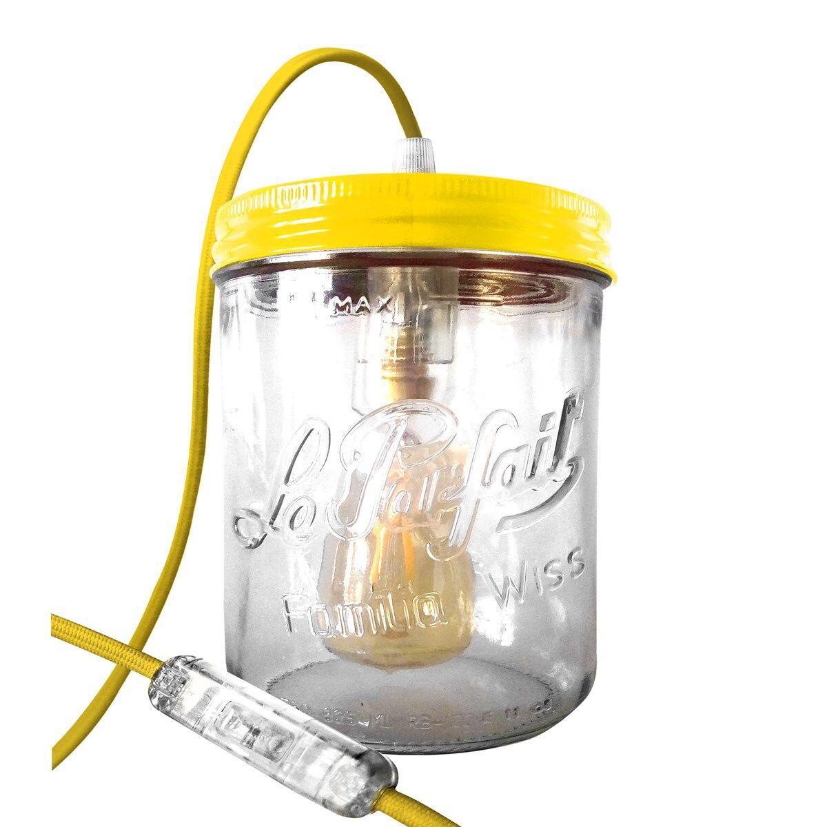 Fenel & Arno Lampe bocal en verre jaune