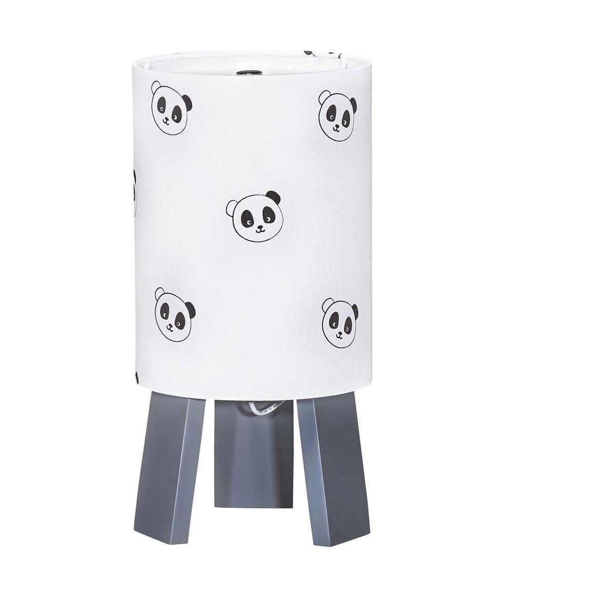 Sauthon Lampe de chevet en coton blanc