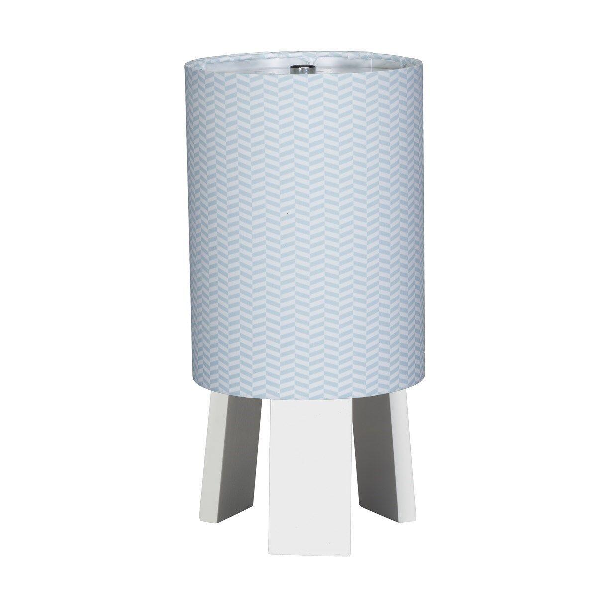 Sauthon Lampe de chevet avec pied en coton bleu