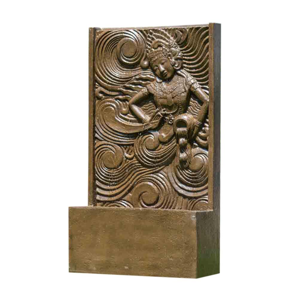 Wanda Collection Fontaine mur d'eau déesse balinaise brun H150cm