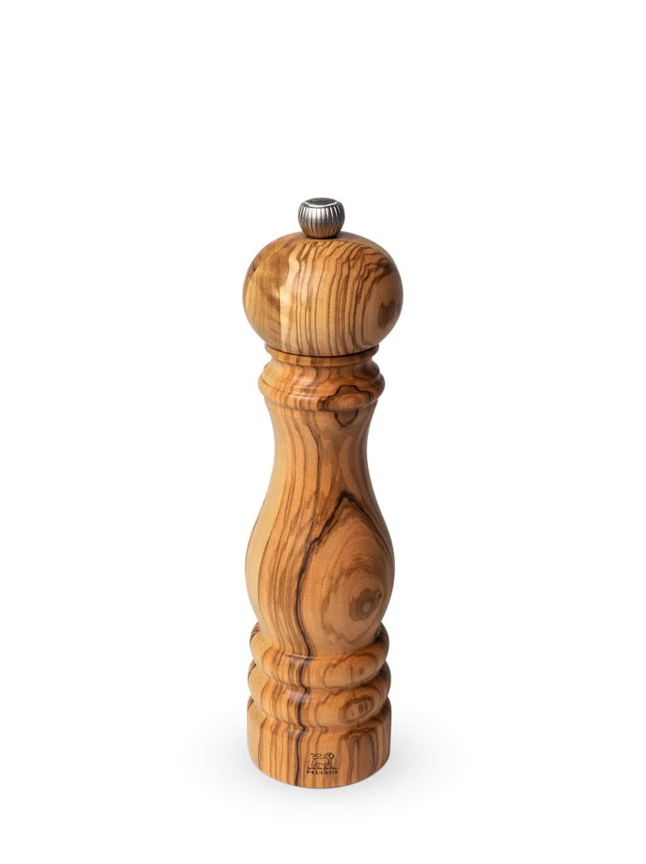 Peugeot Saveurs Moulin à sel manuel en bois d'olivier H22cm