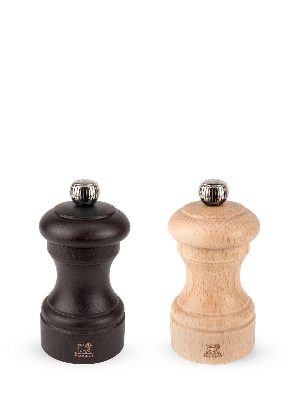 Peugeot Saveurs Duo moulins poivre et sel manuels bois chocolat naturel H10cm
