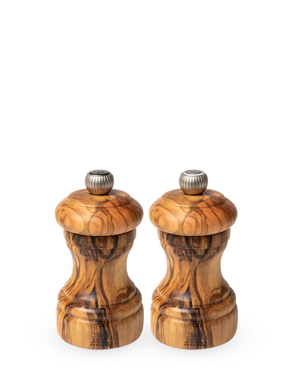 Peugeot Saveurs Duo moulins poivre et sel manuels en bois d'olivier H10cm