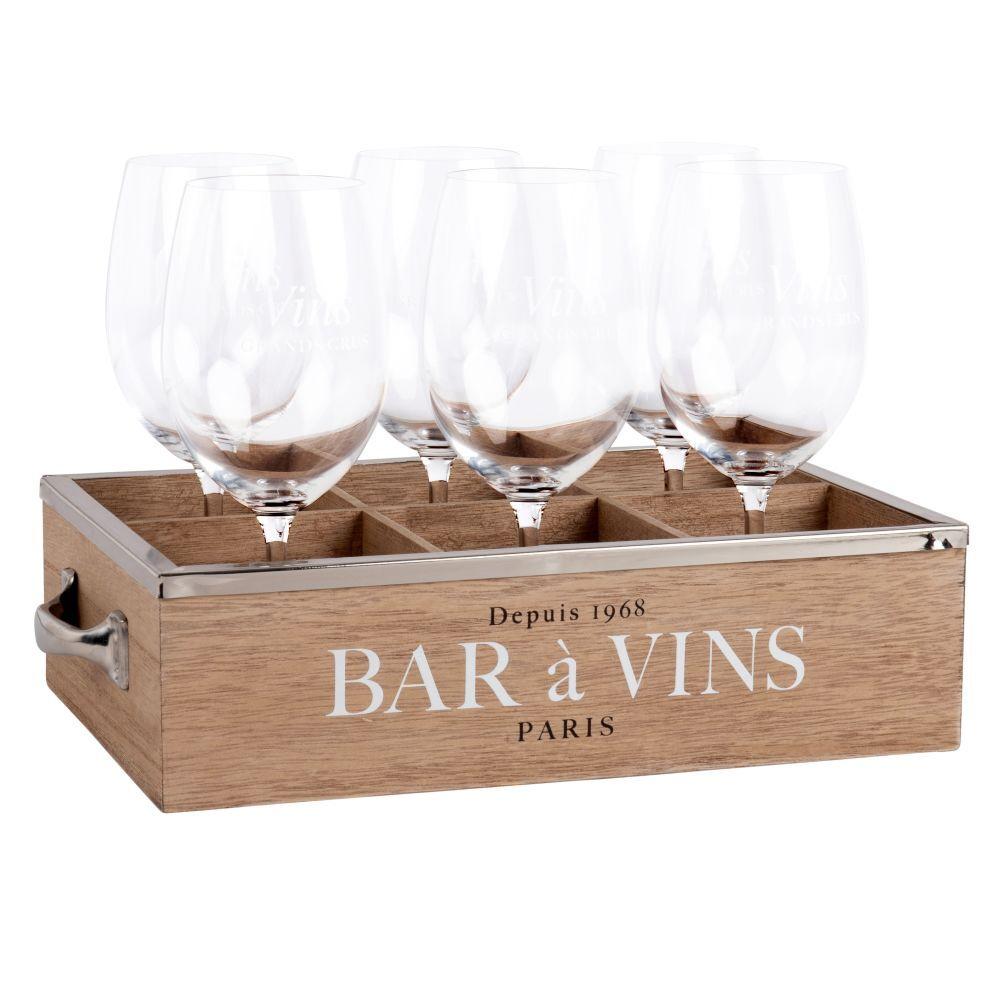 Maisons du Monde Coffret 6 verres à vin