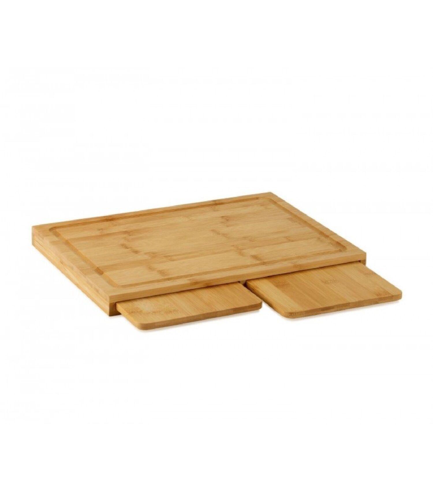 Wadiga Planches à découper en bambou encastrables 3 en 1