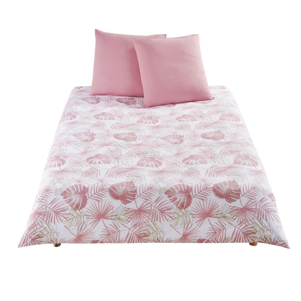 Maisons du Monde Parure de lit enfant en coton blanc motifs palmes 220x240