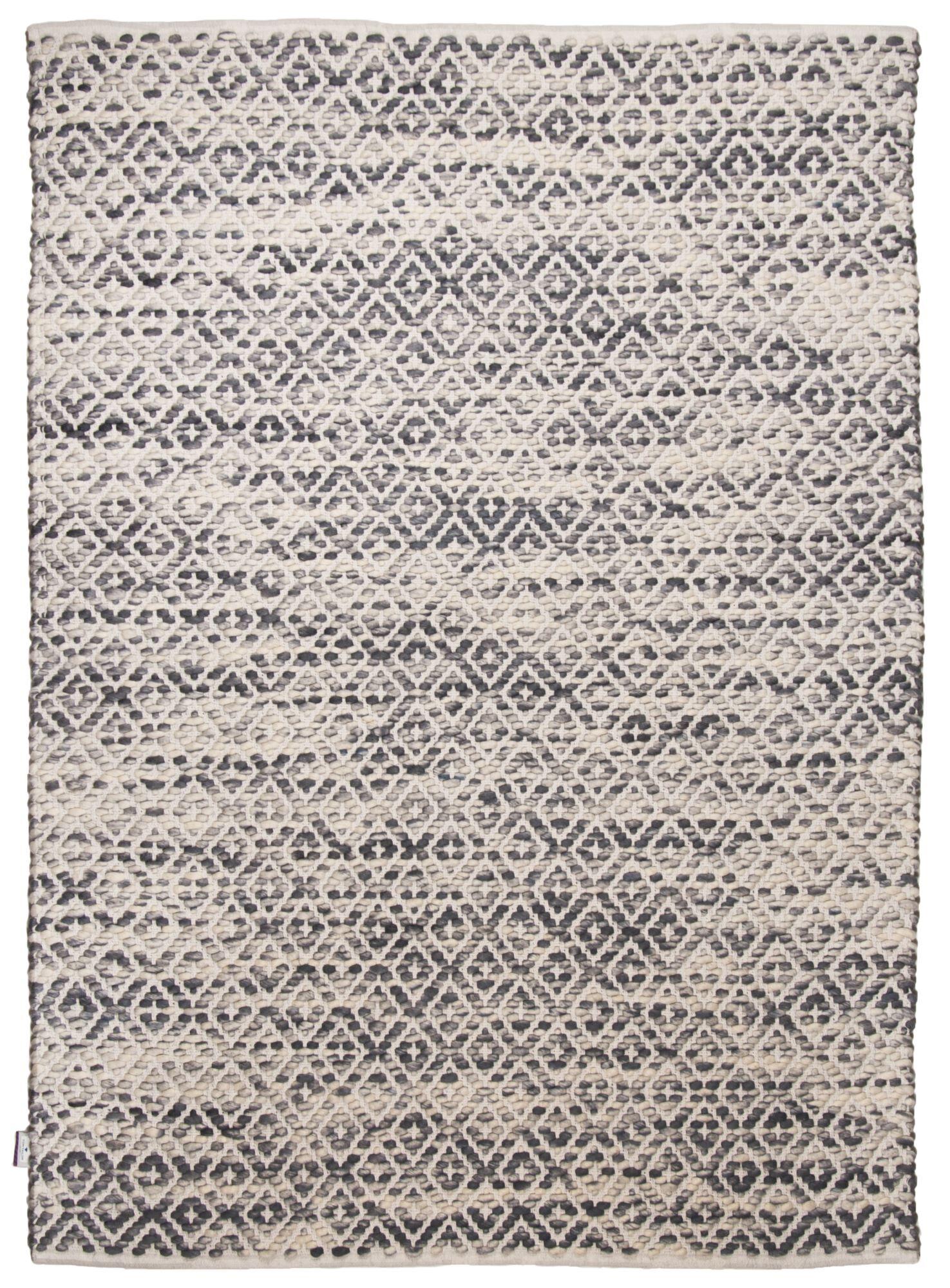 Tom Tailor Tapis moderne en laine fait  la main gris 65x135