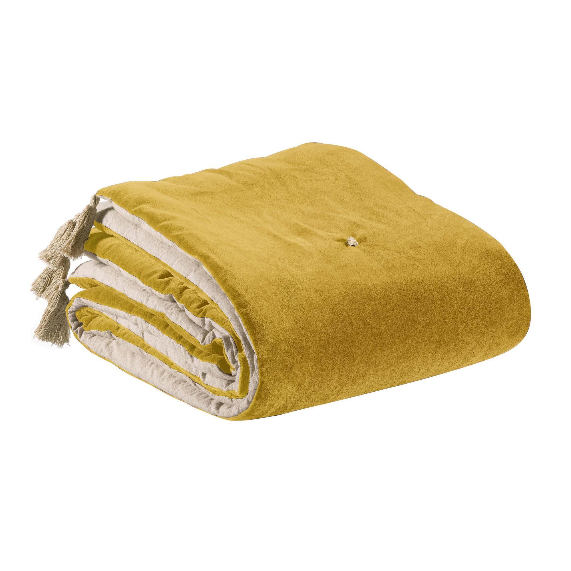 Vivaraise Edredon pompons  en coton mais 80 x 180